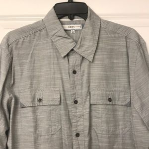 Light grey, casual button down - LARGE